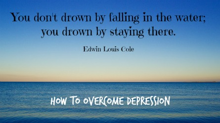 how to get over depression